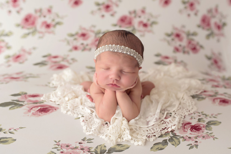 dallas newborn girl flowers photographer