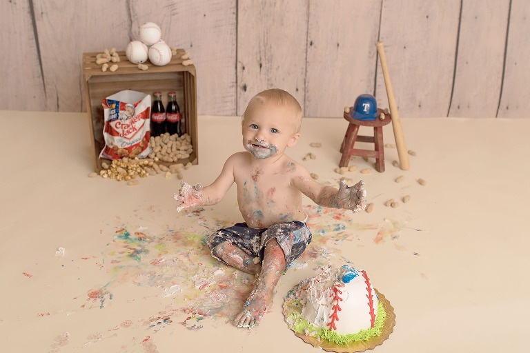 Dallas first birthday cake smash photographer