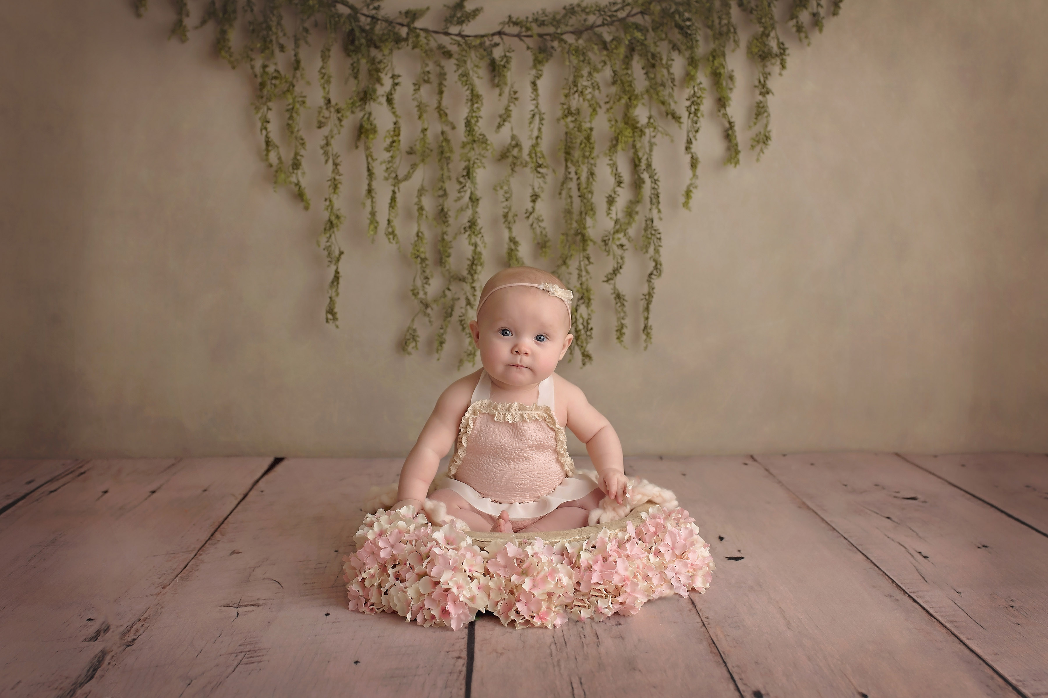 Dallas Texas 6 Month Baby Girl Floral Child Photographer Allison01