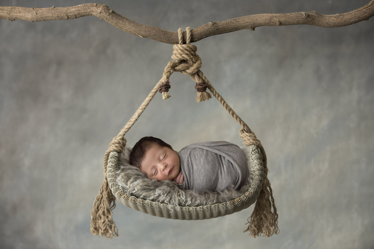 plano newborn boy photo session